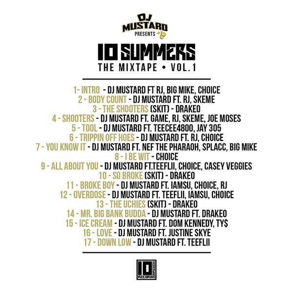 10 summers mixtape vol 1 tracklist
