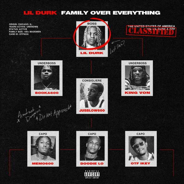 lil durk oof family over everything