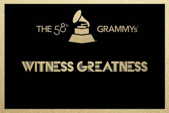 58th grammys logo