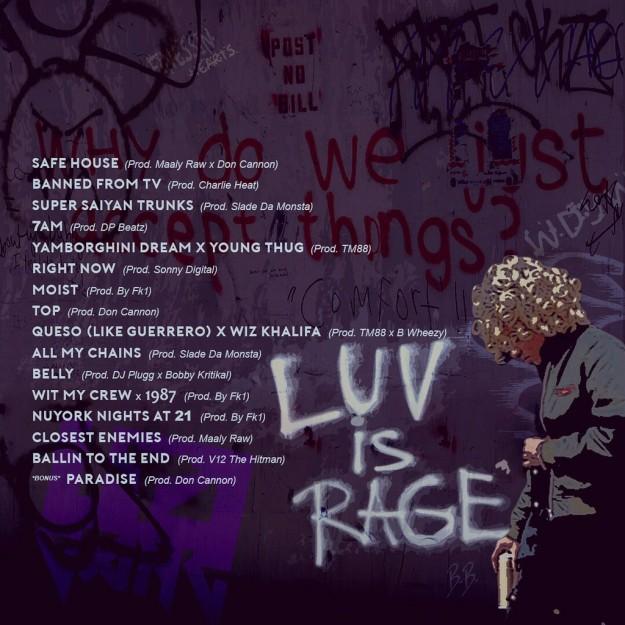 lil uzi vert � luv is rage artwork x tracklist