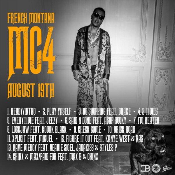 MC4 Tracklist