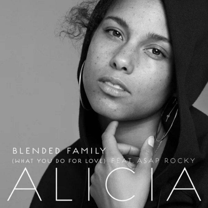 alicia keys blended family