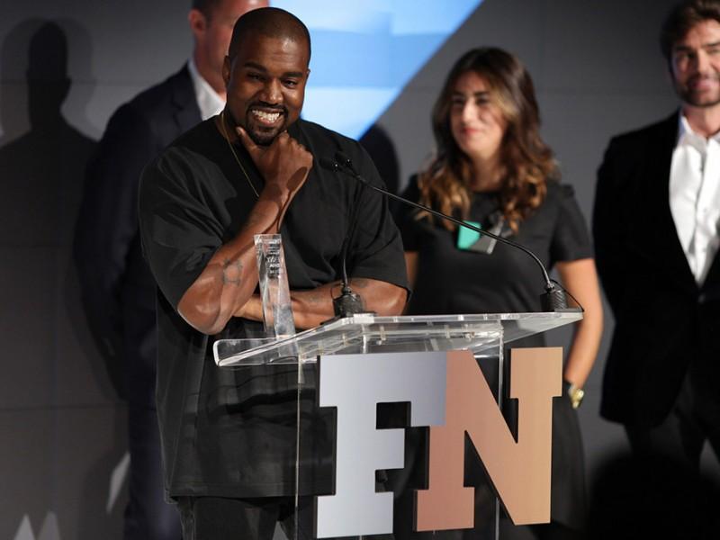 "Kanye West FNAA ""Shoe of the Year"" Award - via Fashionably-Early.com, Footwearnews.com"