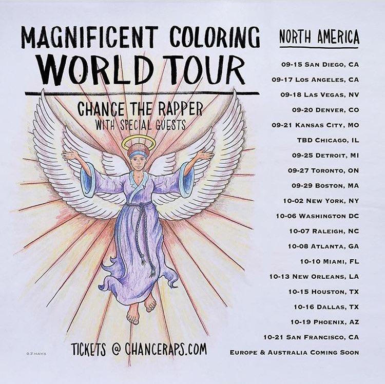 chance the rapper 2016 tour