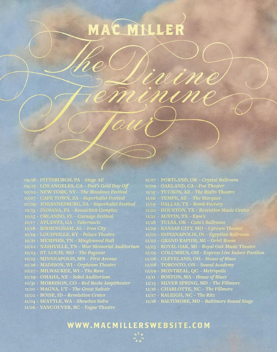 mac miller the divine feminine tour