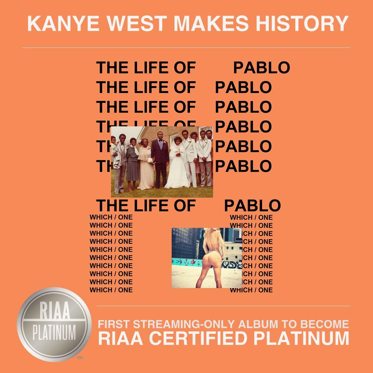 kanye west the life of pablo platinum