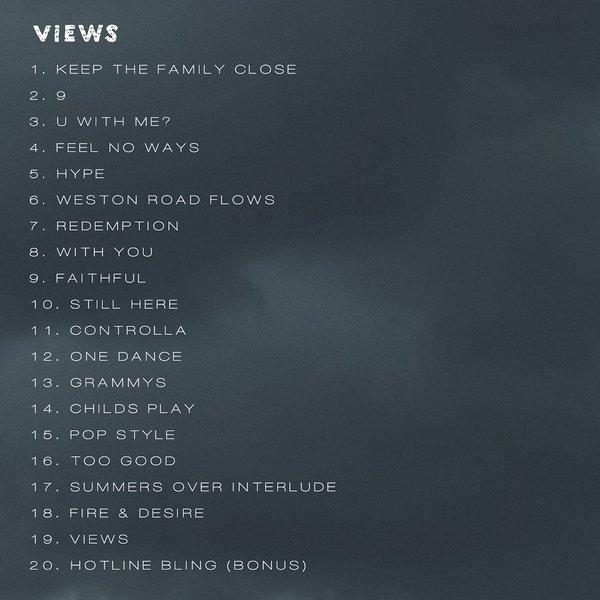 views tracklist